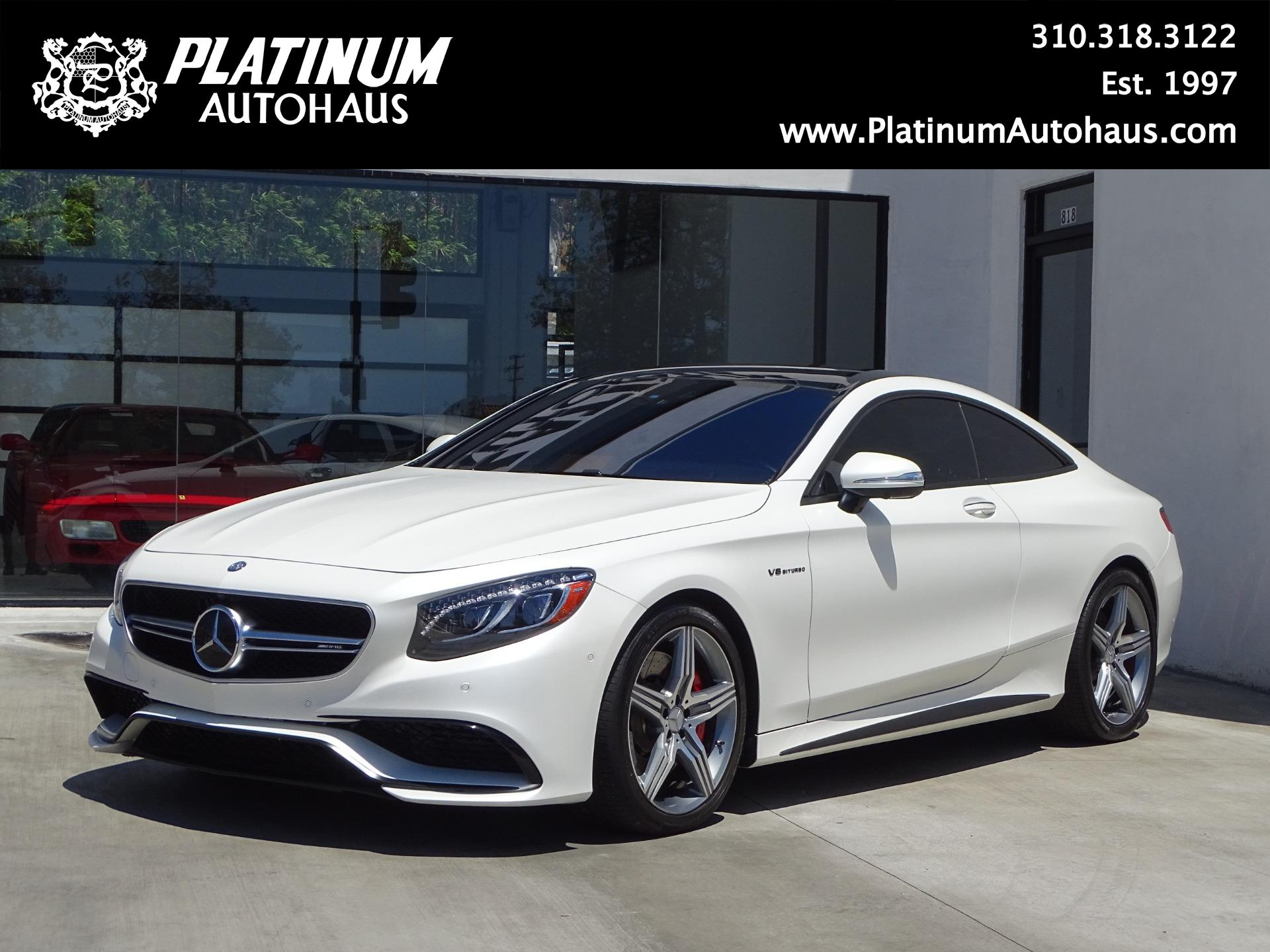 2016 Mercedes Benz S63 Amg Coupe Orig Msrp Of 191 000