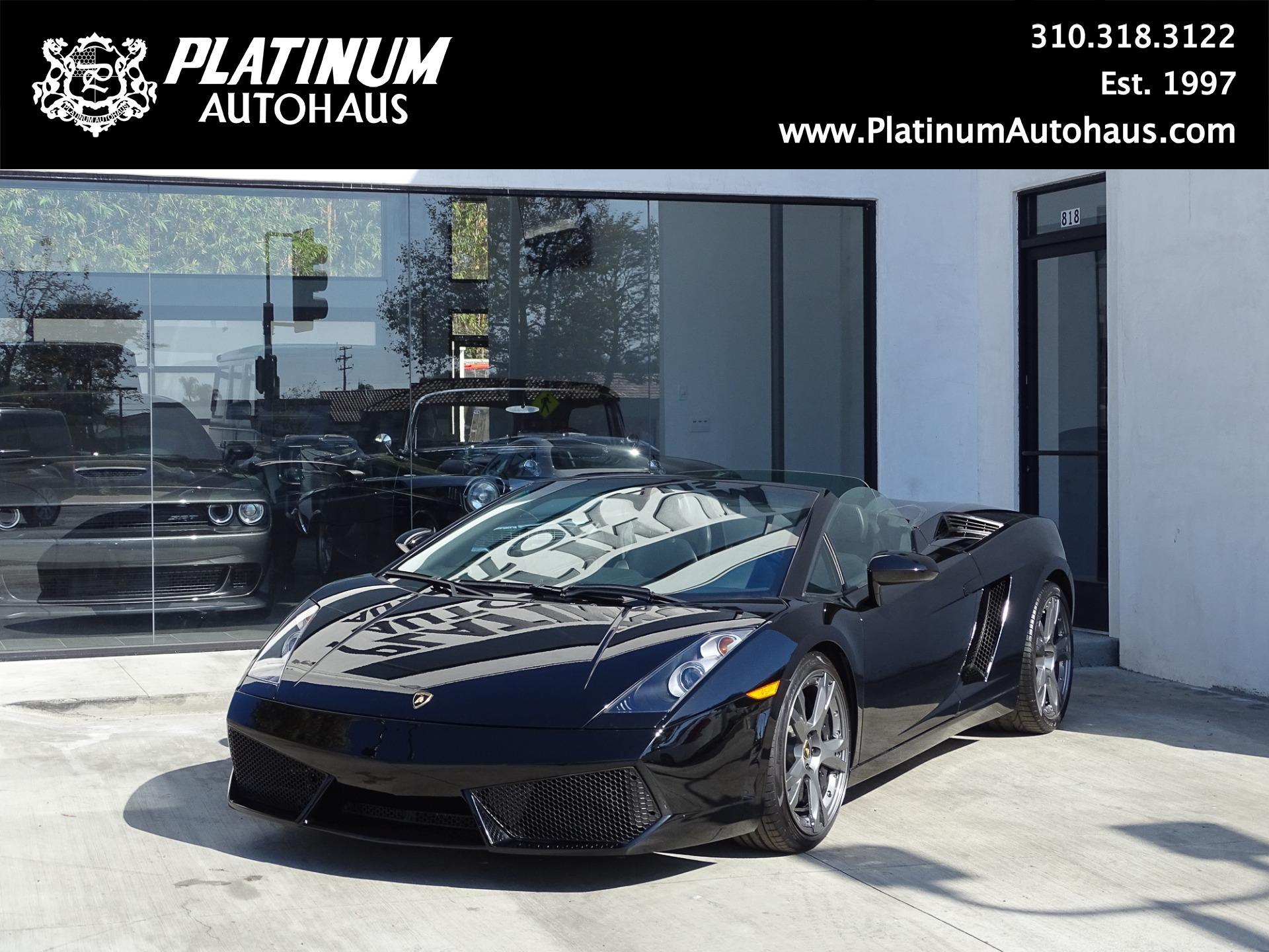 2007 Lamborghini Gallardo Spyder Stock 6314 For Sale Near Redondo