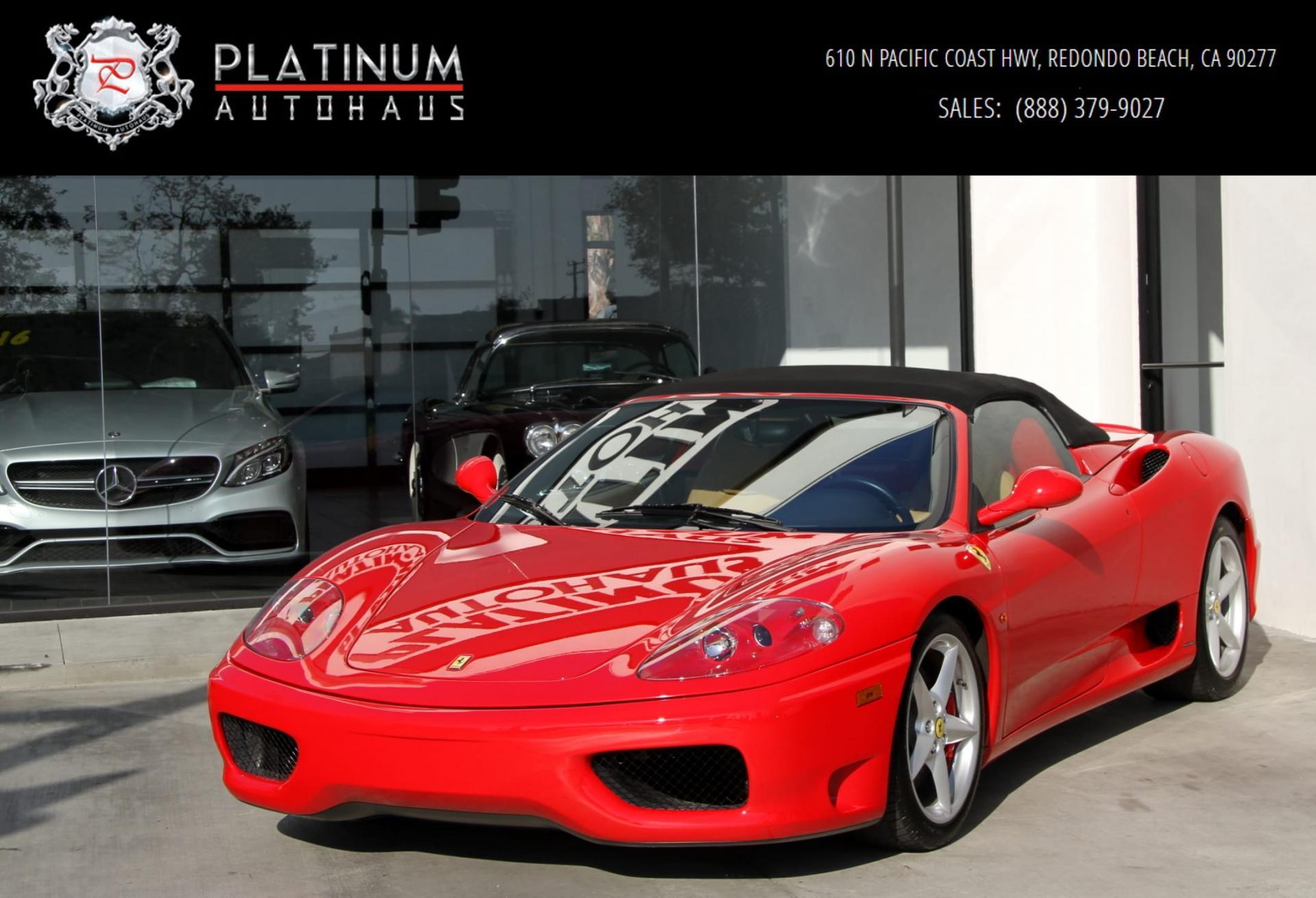 2003 Ferrari 360 Modena Spider F1 Only 6k Miles Stock 6021 For Sale Near Redondo Beach Ca Ca Ferrari Dealer